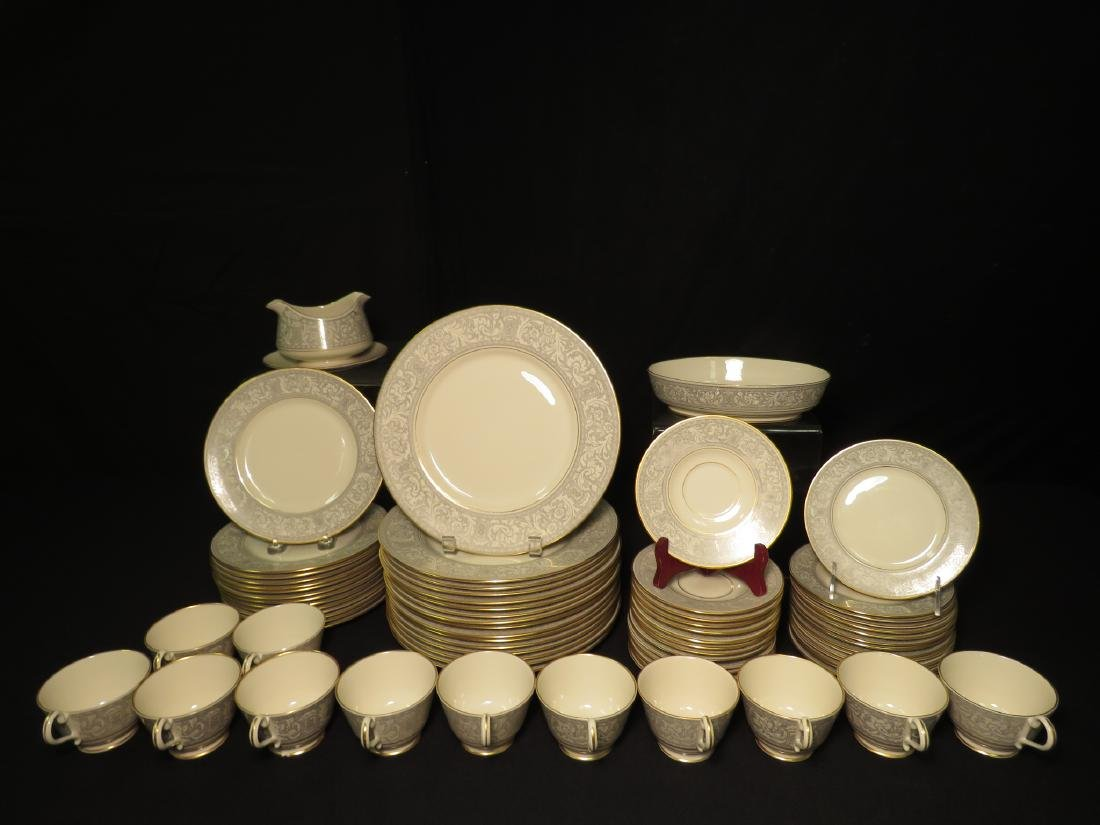 FRANCISCAN GREY RENAISSANCE DINNERWARE 73 PCS