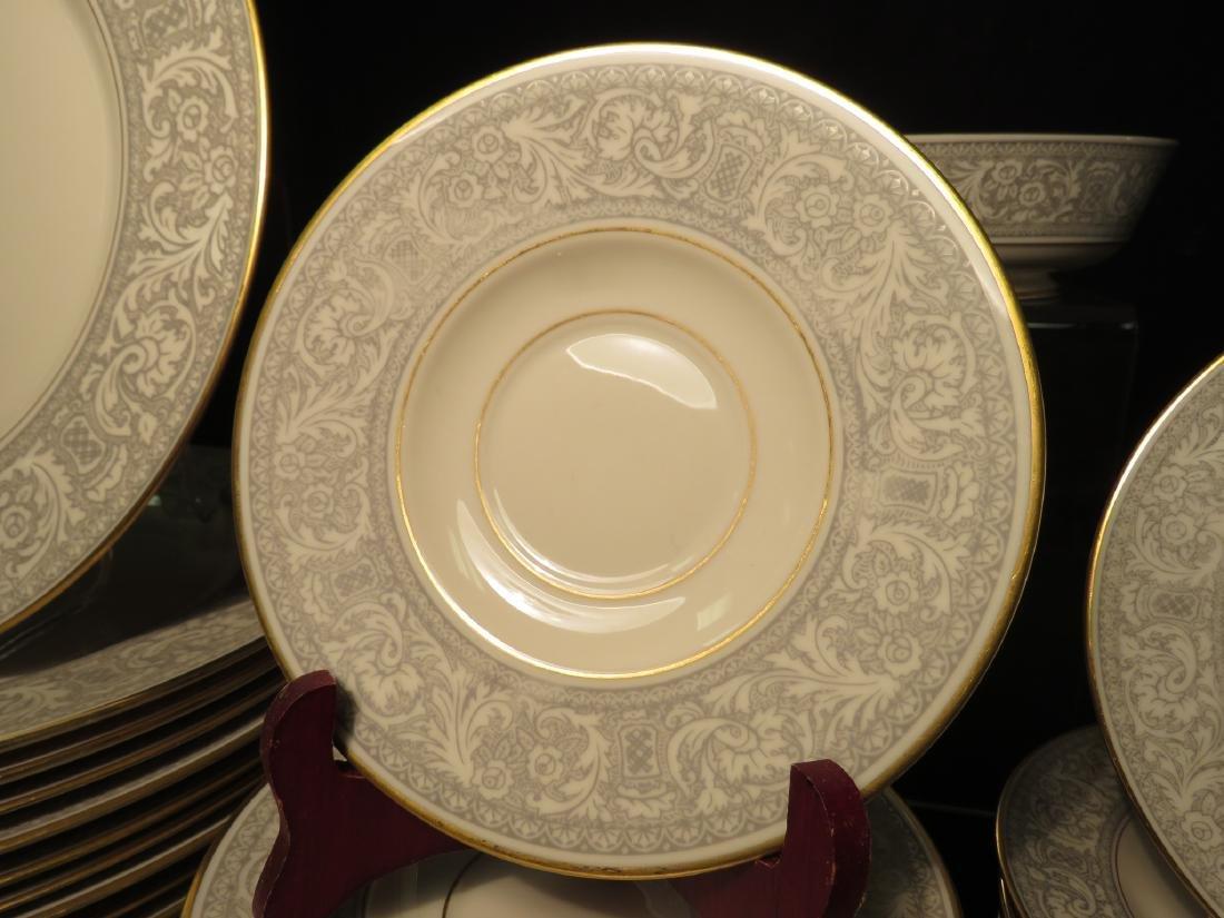 FRANCISCAN GREY RENAISSANCE DINNERWARE 73 PCS - 2