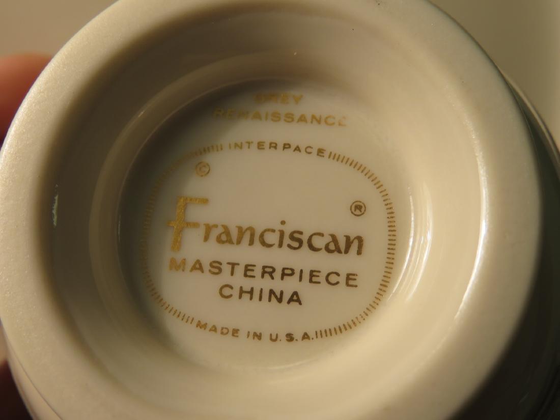 FRANCISCAN GREY RENAISSANCE DINNERWARE 73 PCS - 7