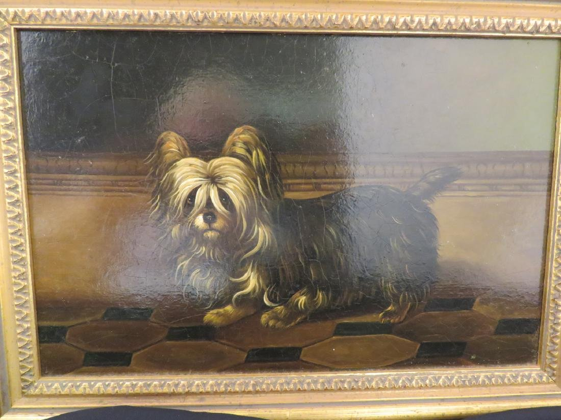 OIL PAINTING PORTRAIT OF A YORKSHIRE TERRIER