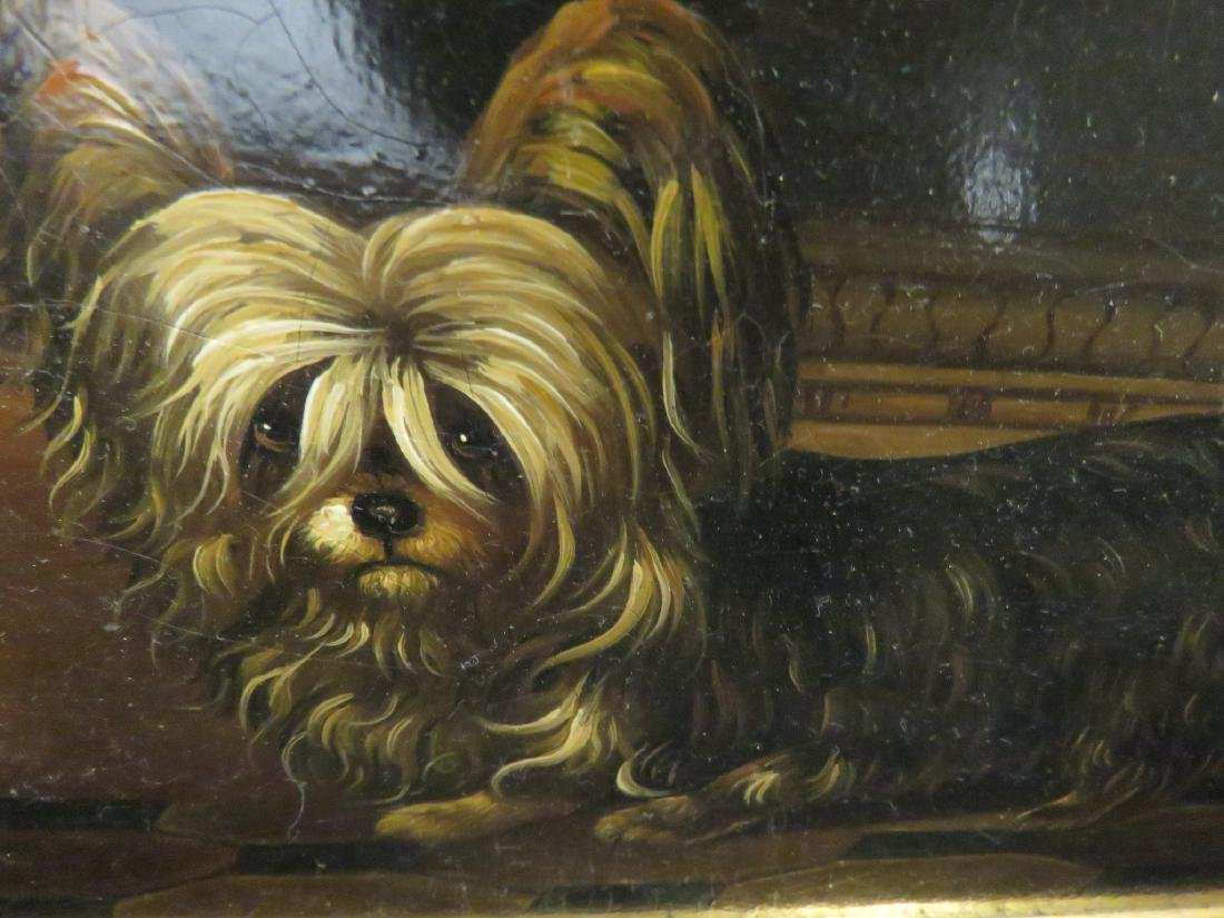 OIL PAINTING PORTRAIT OF A YORKSHIRE TERRIER - 2