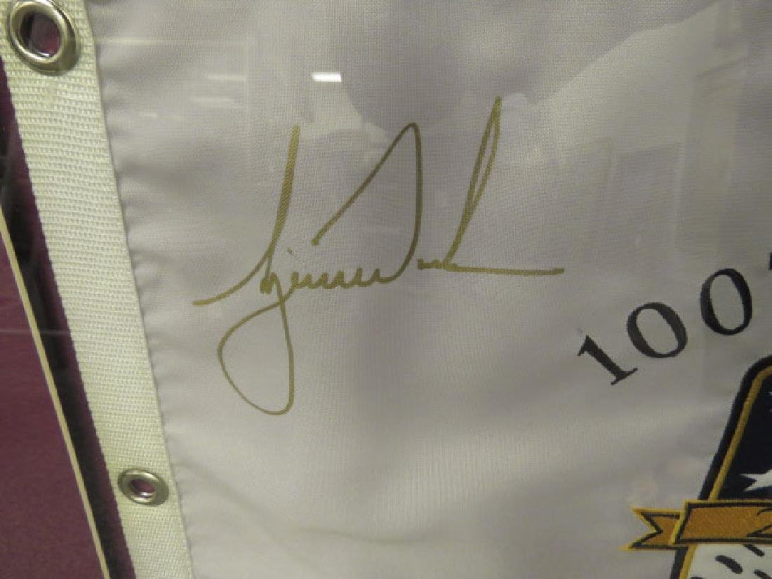 SIGNED TIGER WOODS PIN FLAG - 100TH US OPEN - 2