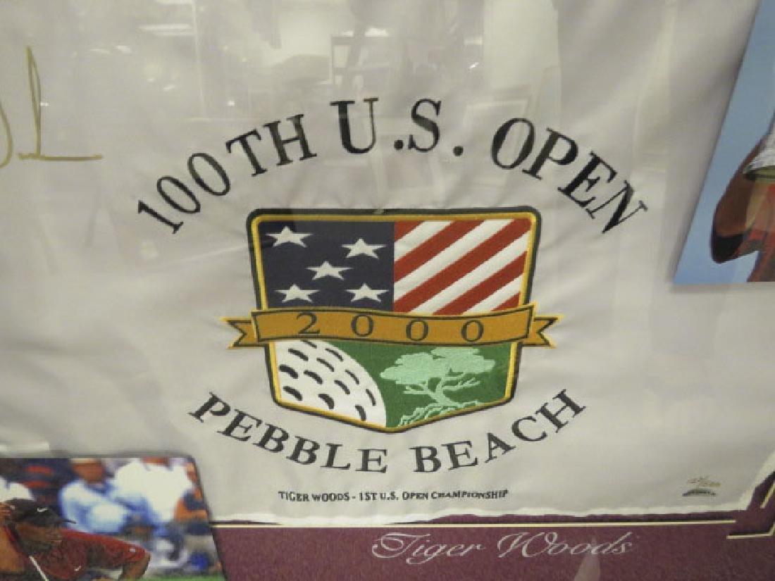 SIGNED TIGER WOODS PIN FLAG - 100TH US OPEN - 3
