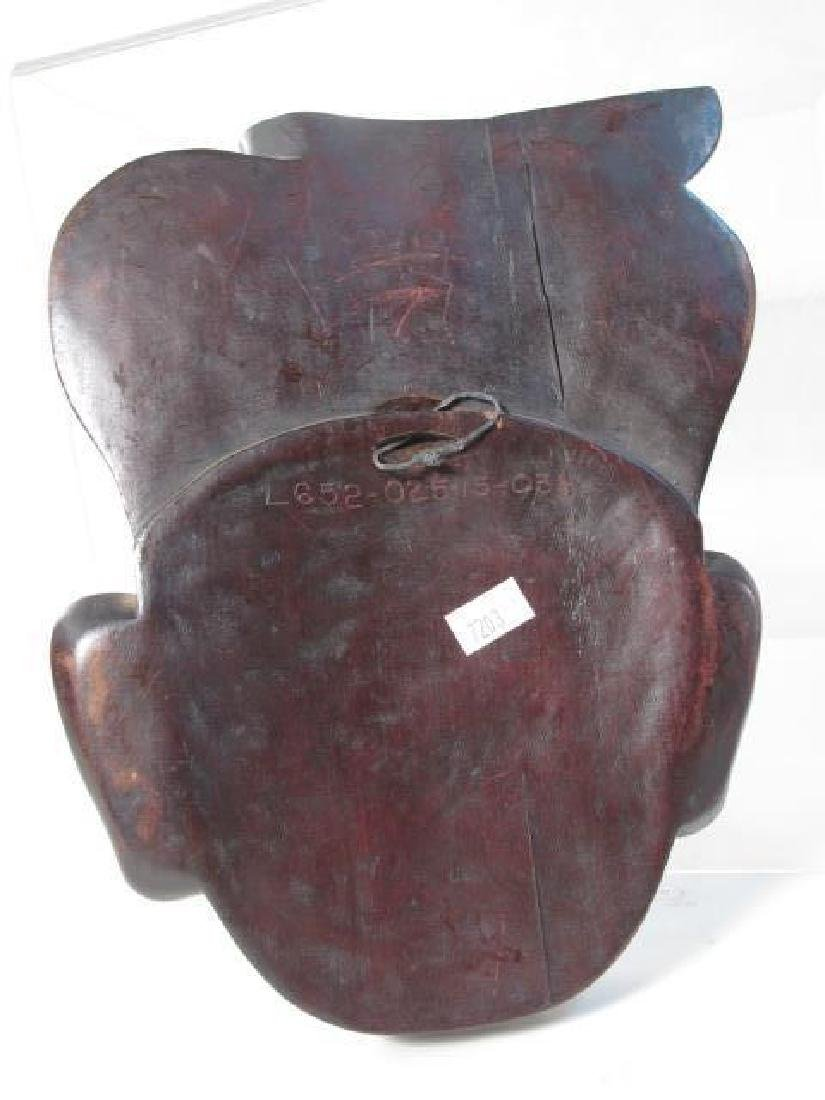 FIVE TRIBAL STYLE CARVED WOOD MASKS - 6