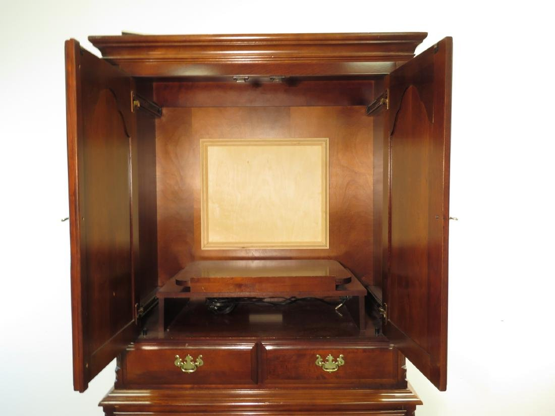 PETITE MAHOGANY FINISHED FEDERAL STYLE ARMOIRE - 2