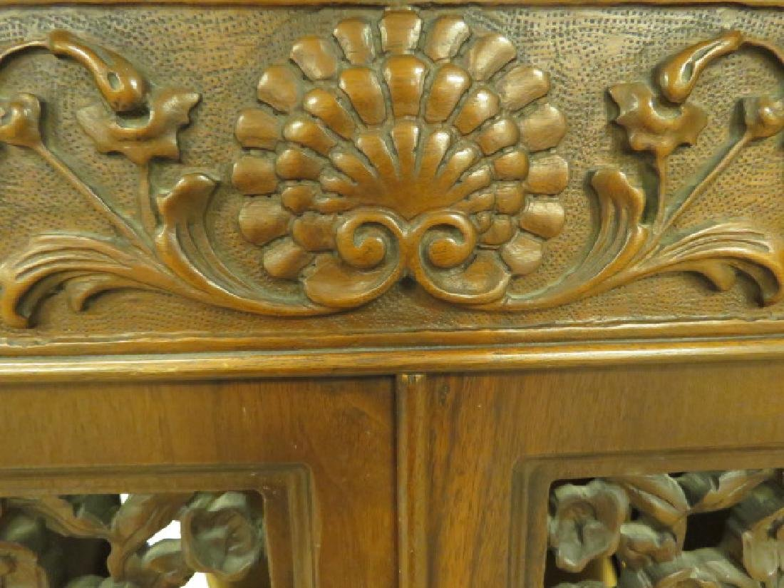 LATE 19TH/ EARLY 20TH C CARVED WALNUT CABINET - 6