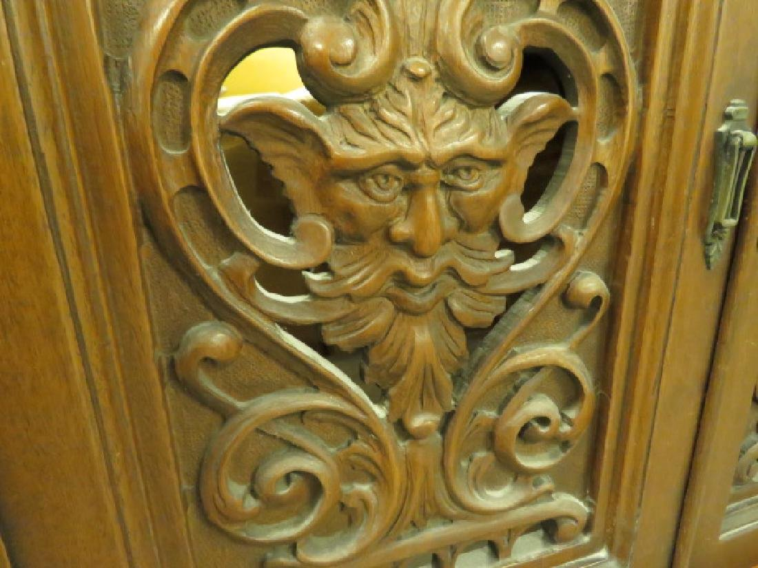 LATE 19TH/ EARLY 20TH C CARVED WALNUT CABINET - 8