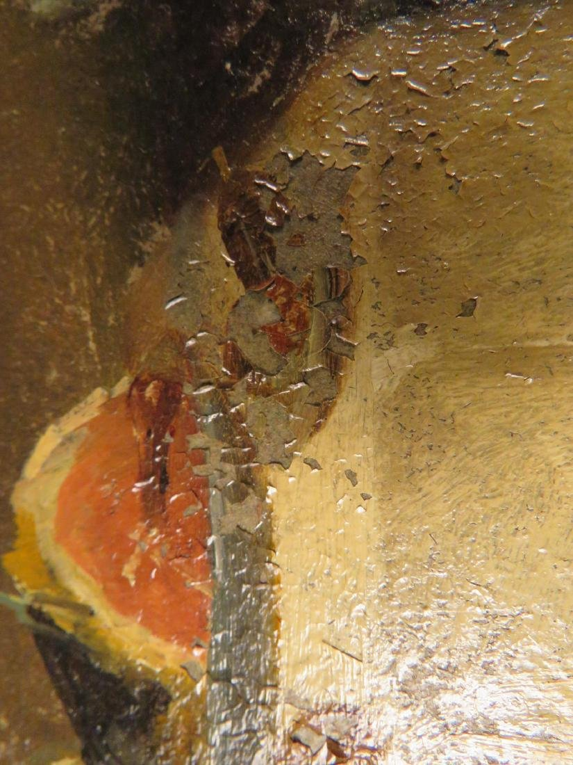 OIL ON PANEL PAINTING OF A GENTLEMAN DINING - 8