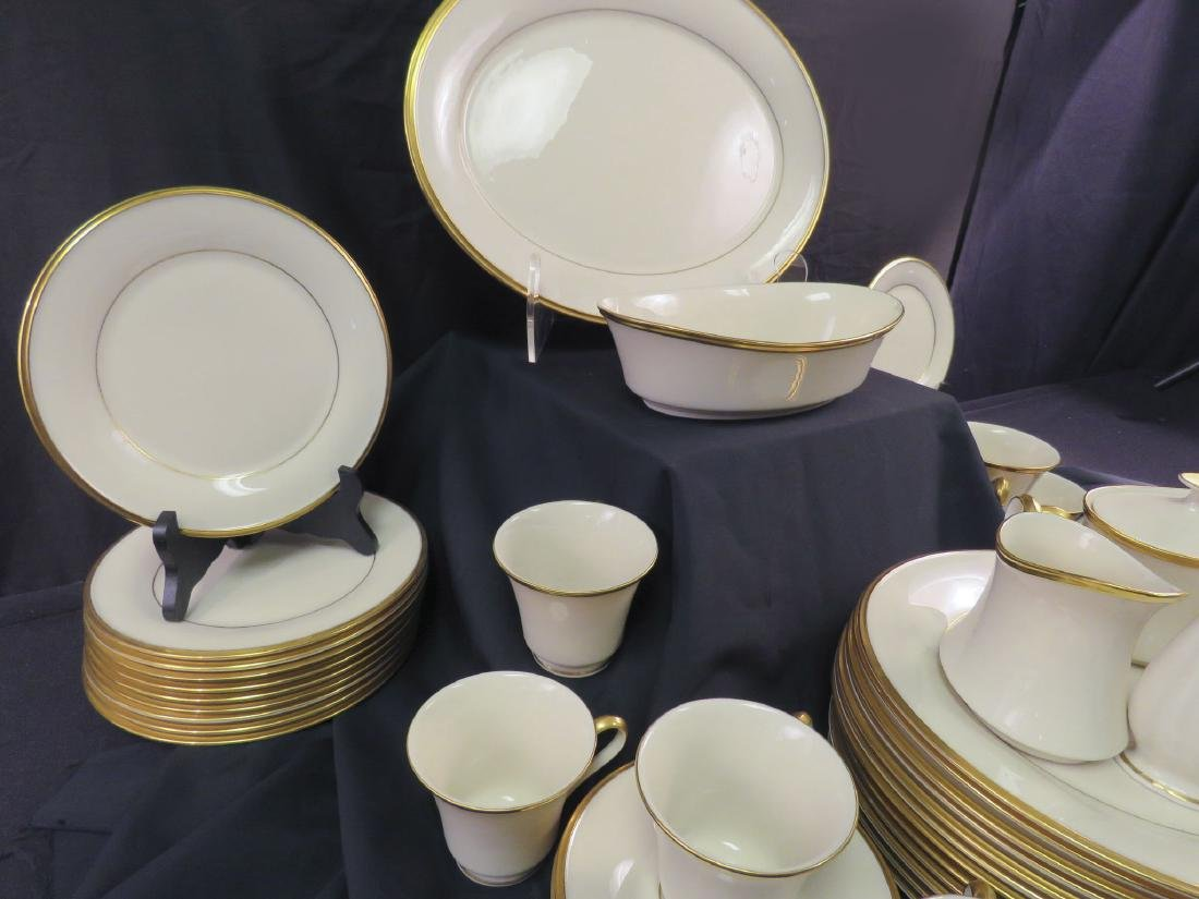 LENOX CHINA DINNER SERVICE FOR 12: ETERNAL - 3