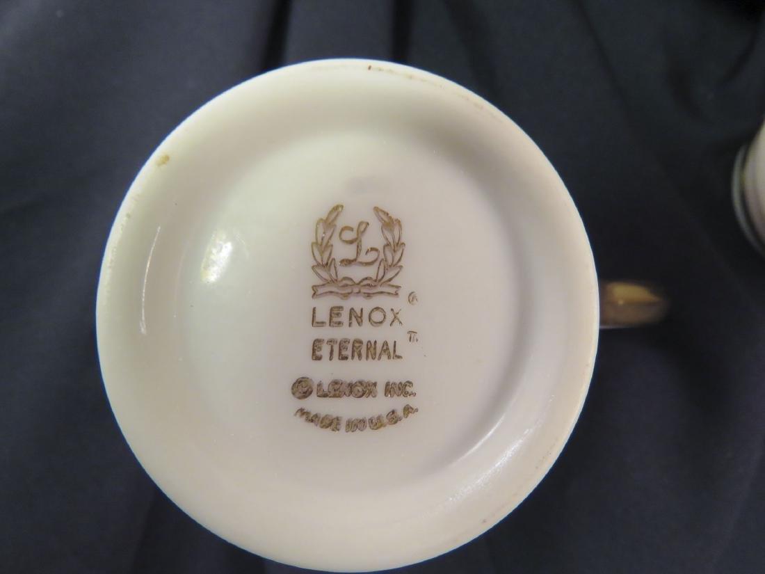 LENOX CHINA DINNER SERVICE FOR 12: ETERNAL - 7