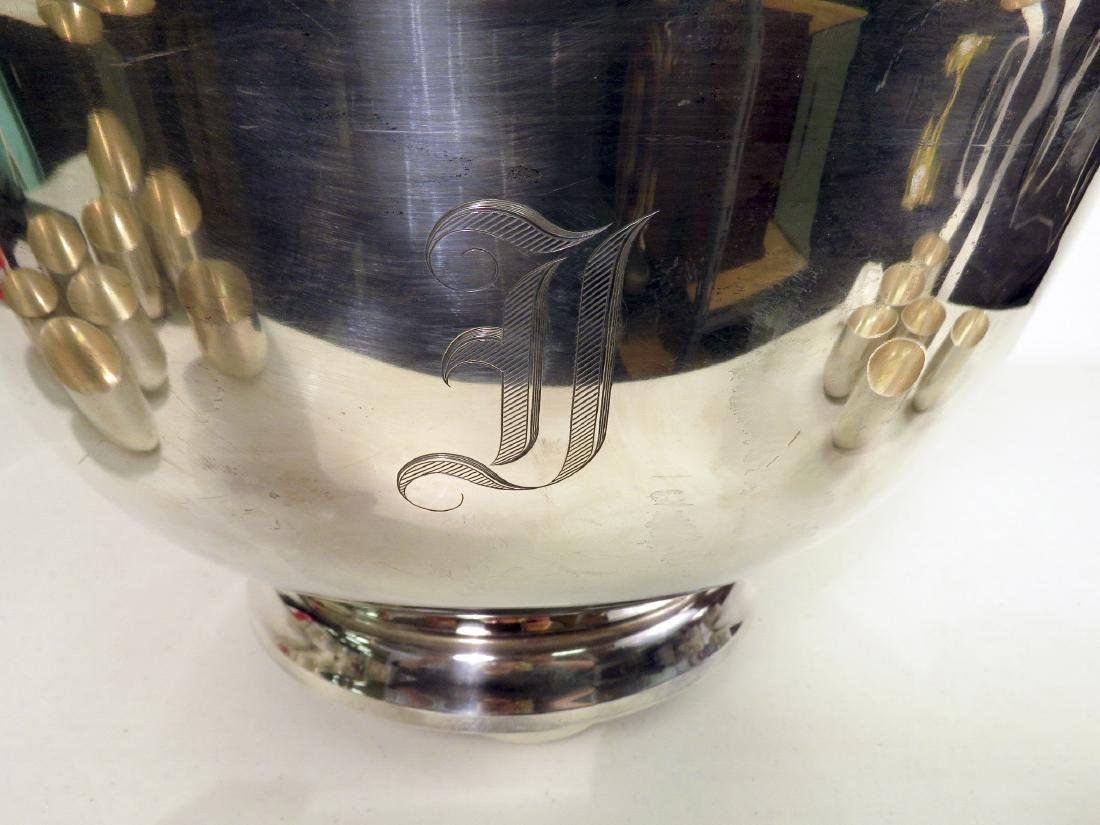 J.E. CALDWELL STERLING SILVER PUNCH BOWL W 24 CUPS - 6