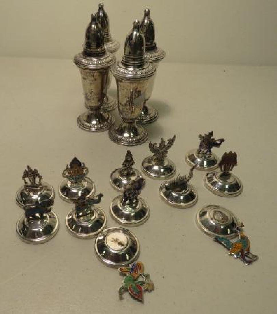 STERLING SILVER SHAKERS & PLACECARD HOLDERS