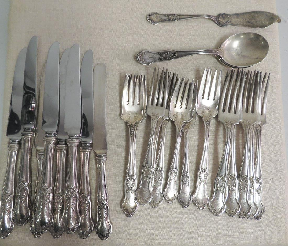 ANTIQUE STERLING SILVER FLATWARE 35.2 TROY