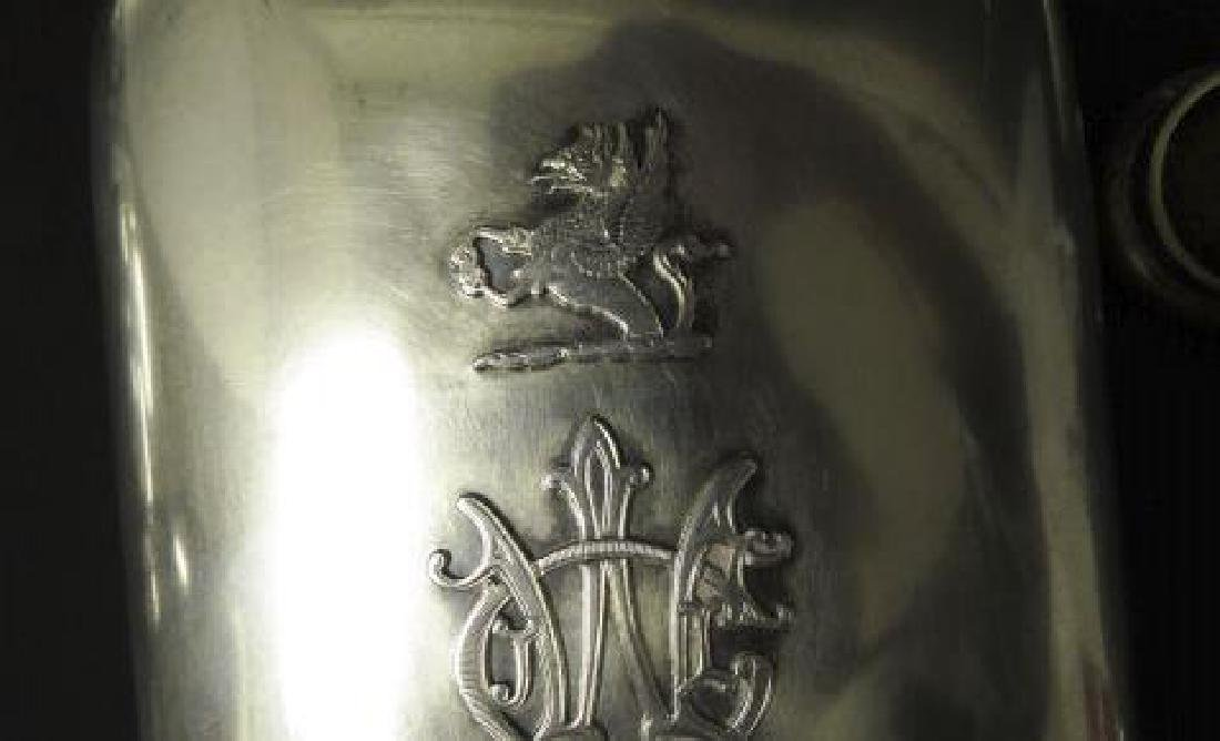 ANTIQUE TIFFANY & CO STERLING SILVER FLASK - 6