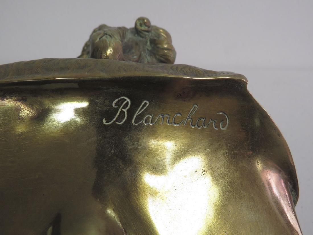 ANTIQUE VICTORIAN BRASS BUST: BLANCHARD - 6