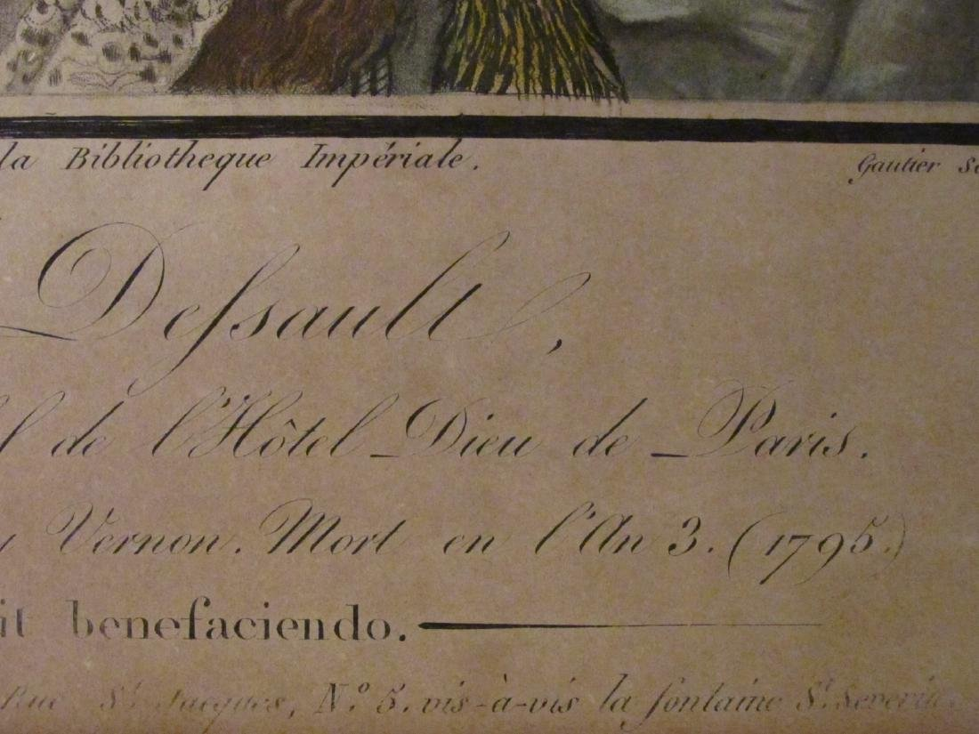 TWO ANTIQUE P.J. DESAULT INTAGLIO PRINTS: HAND COL - 8