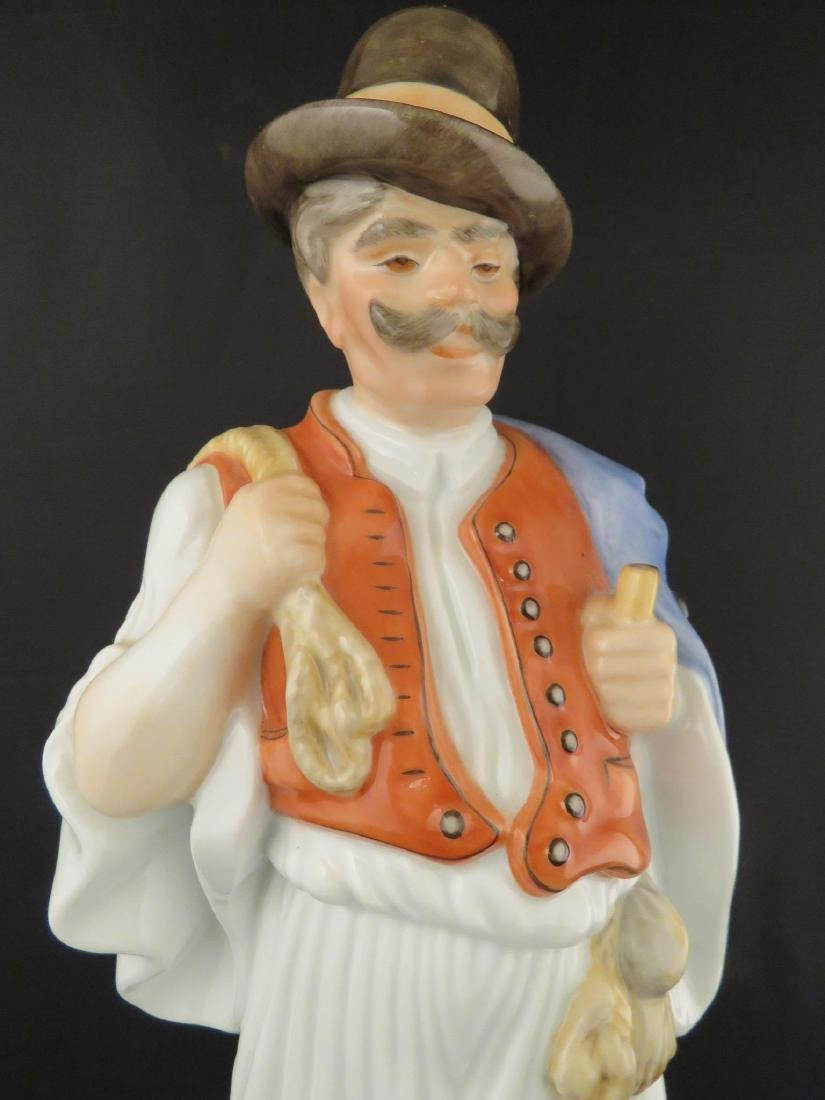 HEREND PORCELAIN FIGURINE OF A PEASANT - 2