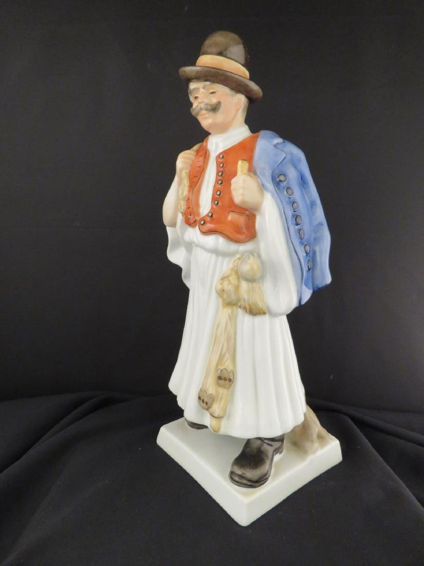 HEREND PORCELAIN FIGURINE OF A PEASANT - 5