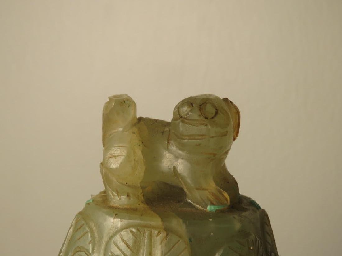ANTIQUE CHINESE CARVED JADE URN - 5