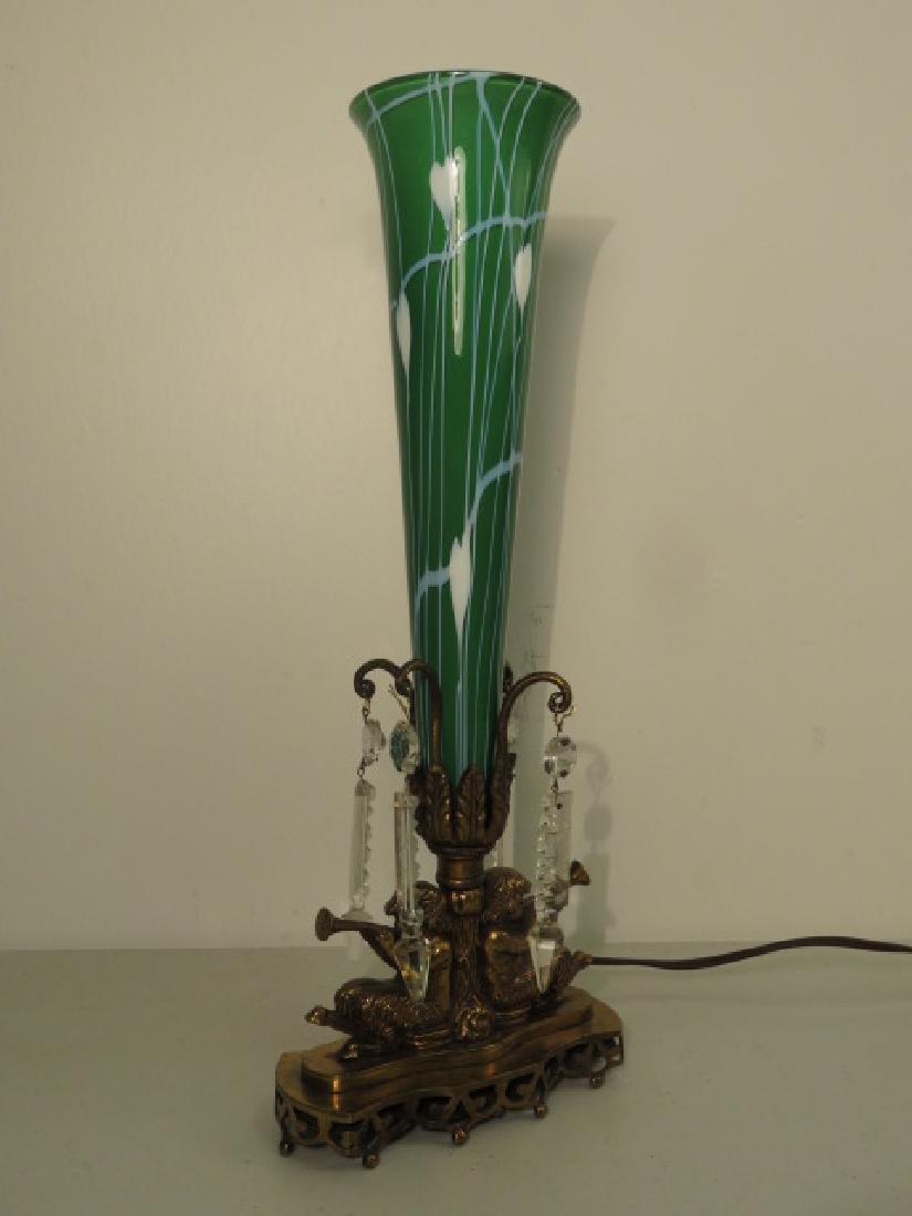 TULIP FORM ART GLASS TABLE LAMP - 2