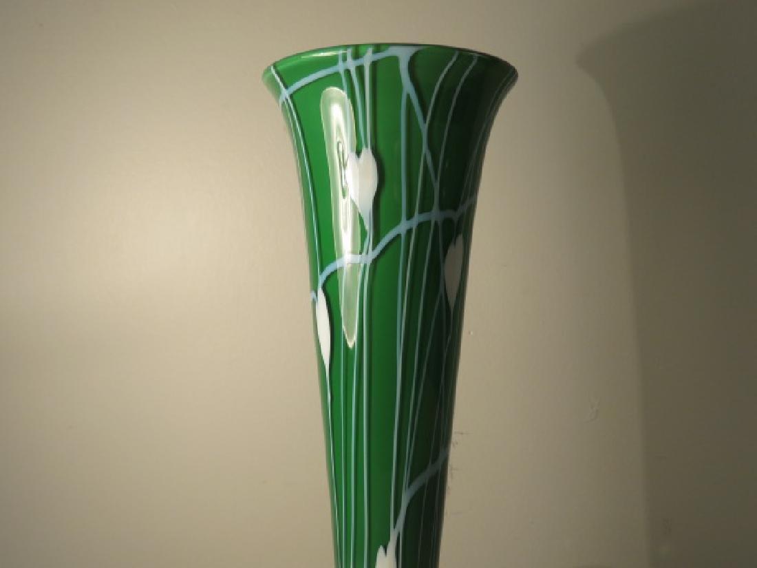 TULIP FORM ART GLASS TABLE LAMP - 4