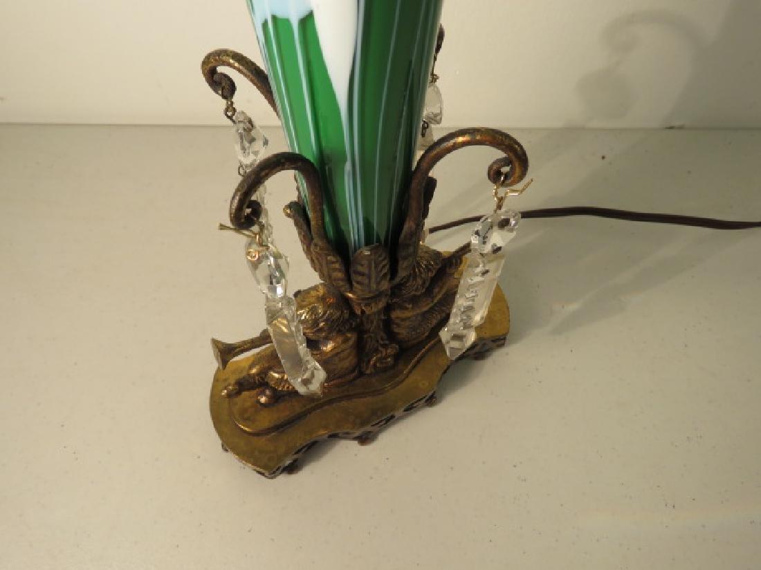 TULIP FORM ART GLASS TABLE LAMP - 6