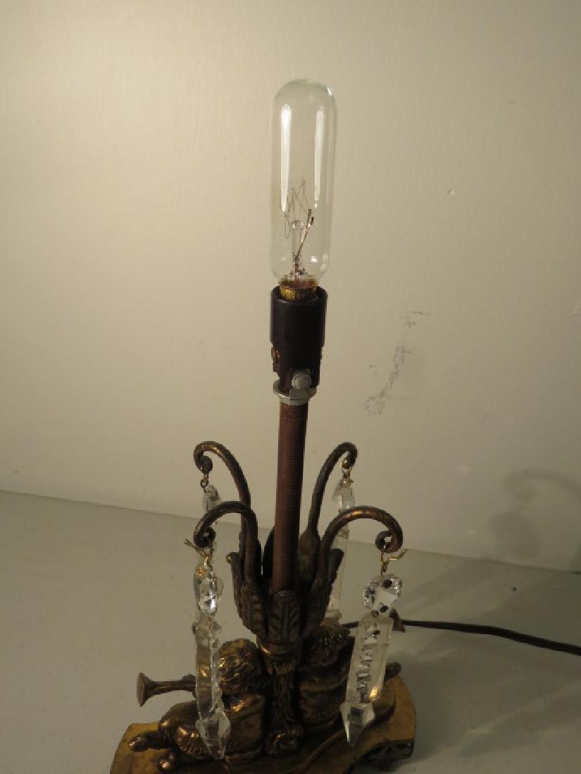TULIP FORM ART GLASS TABLE LAMP - 7