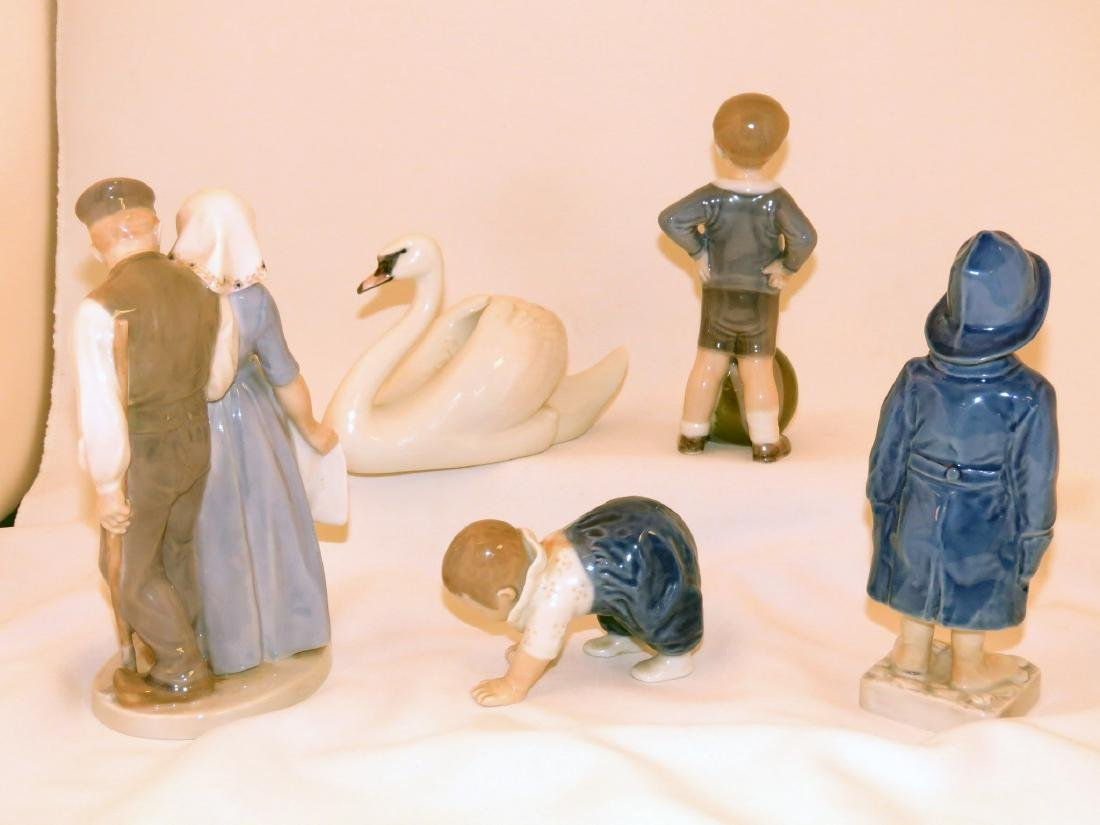 FIVE B & G PORCELAIN FIGURES OF CHILDREN - 2