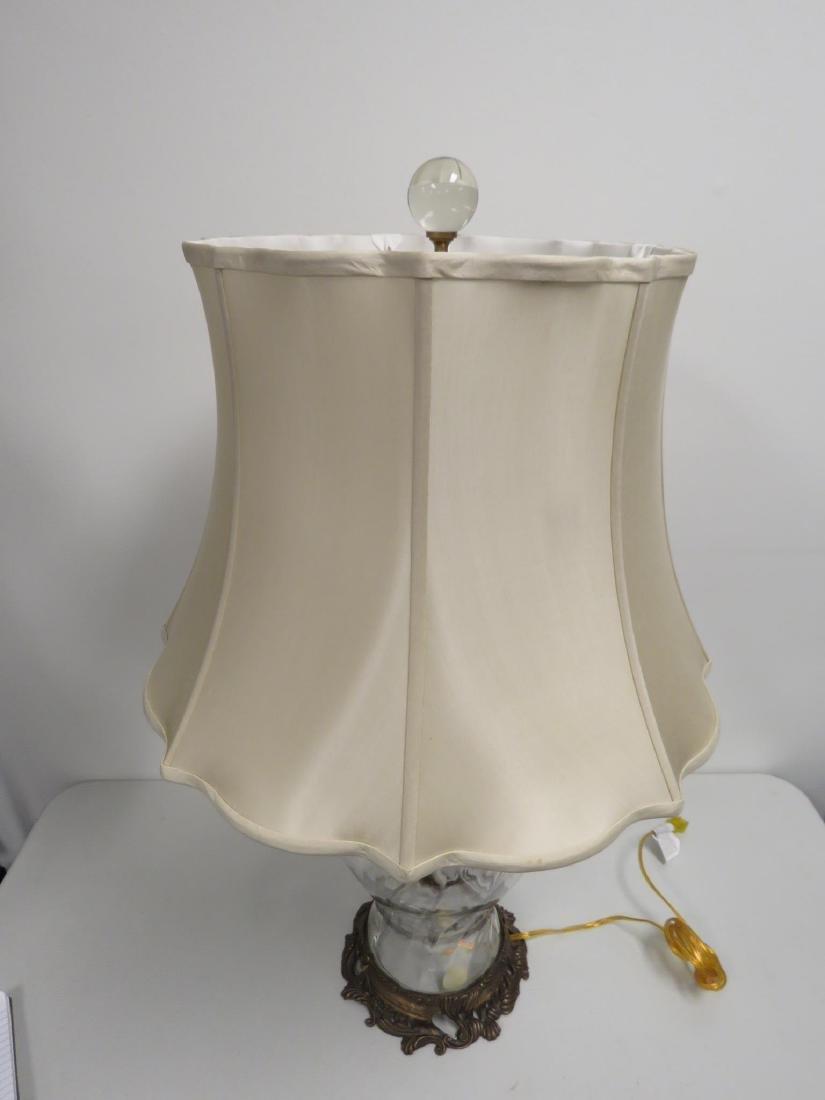 MODERN GLASS & BRONZE TABLE LAMP - 2