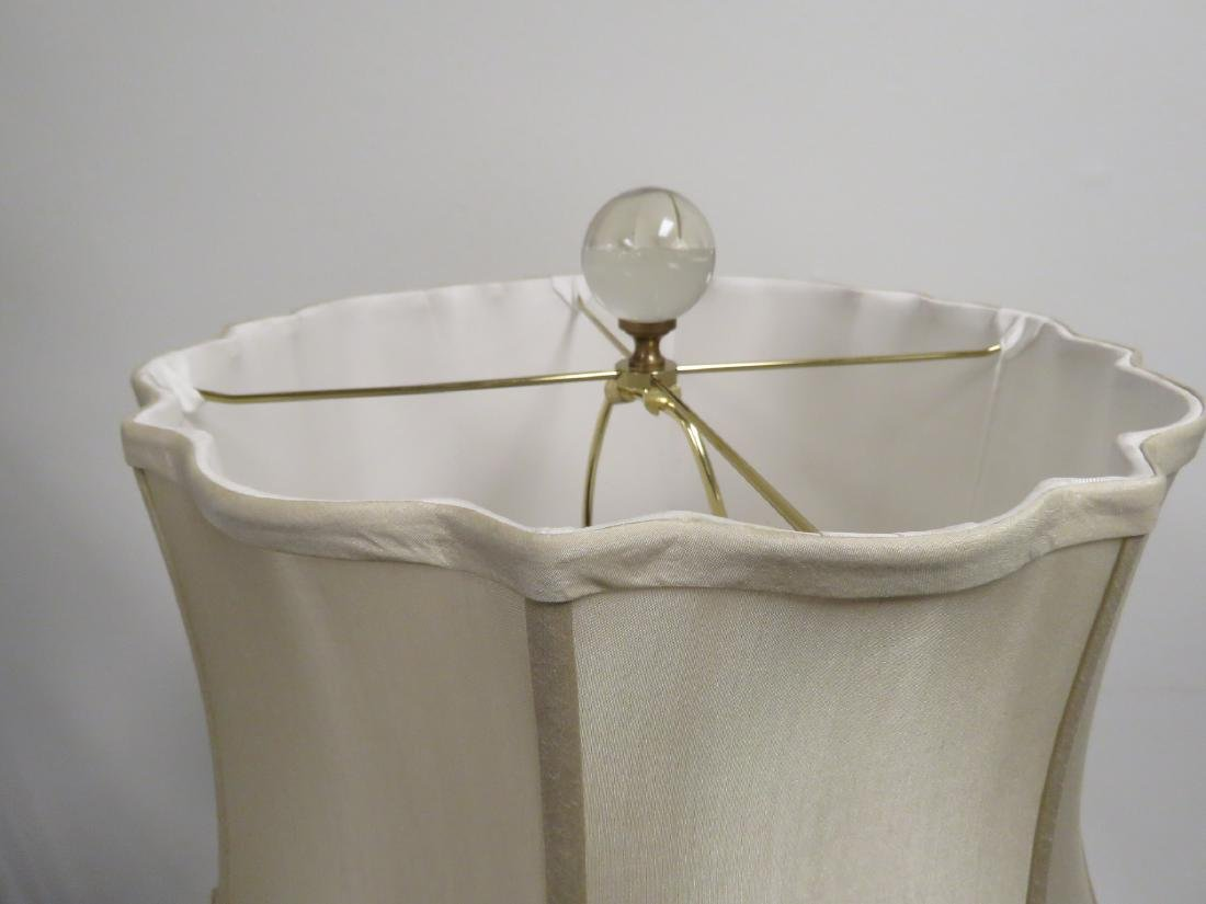 MODERN GLASS & BRONZE TABLE LAMP - 4