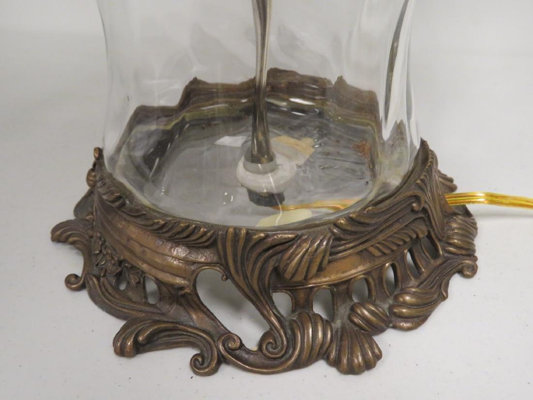 MODERN GLASS & BRONZE TABLE LAMP - 5
