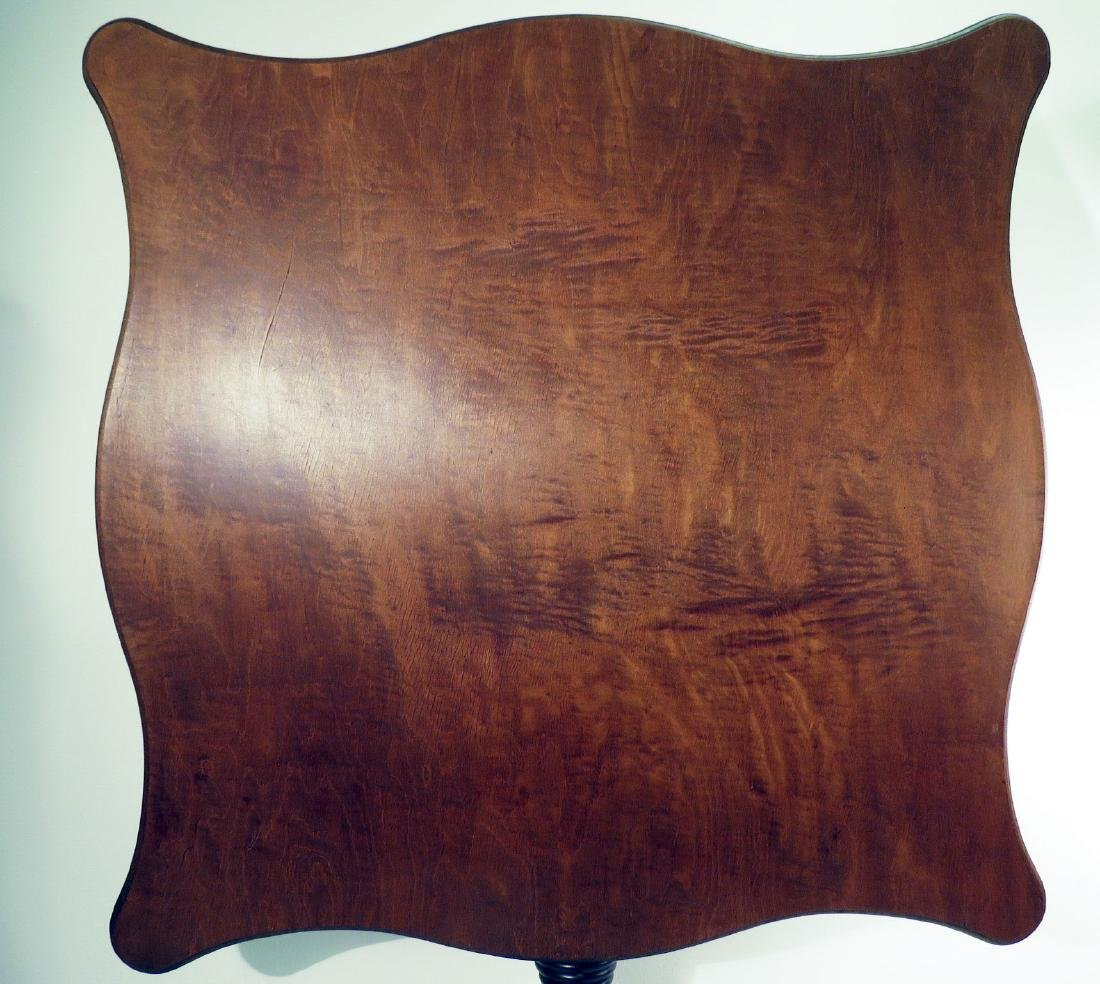 BURLED WALNUT FLIP TOP PEDESTAL TABLE
