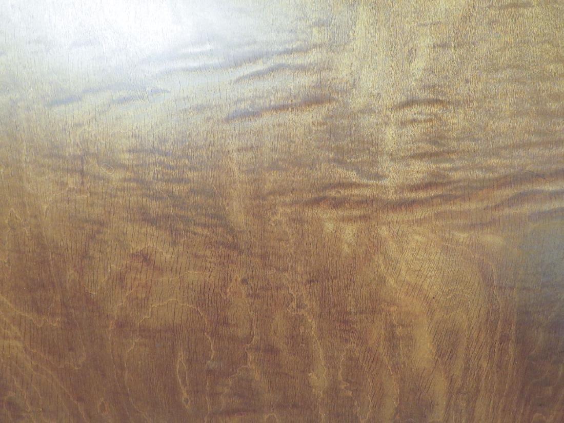 BURLED WALNUT FLIP TOP PEDESTAL TABLE - 3