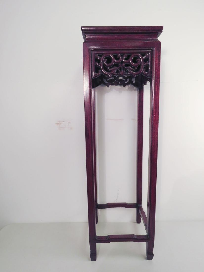 ASIAN CARVED WOOD STAND