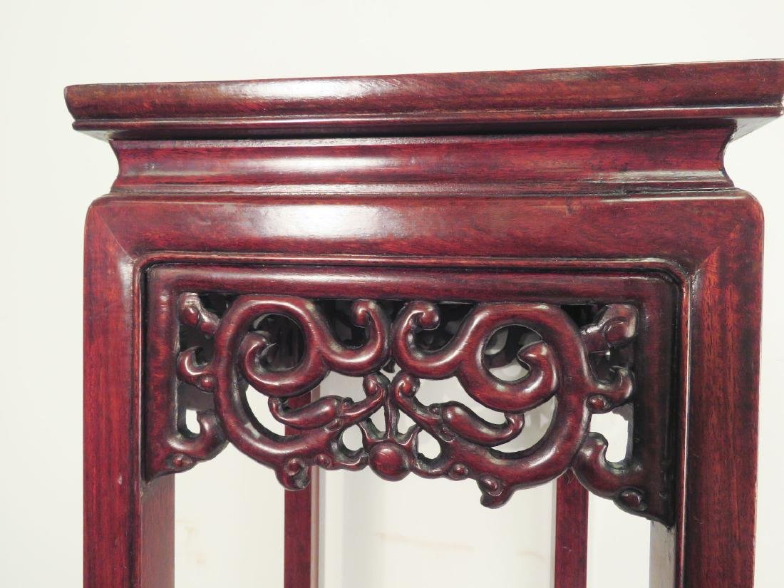 ASIAN CARVED WOOD STAND - 2