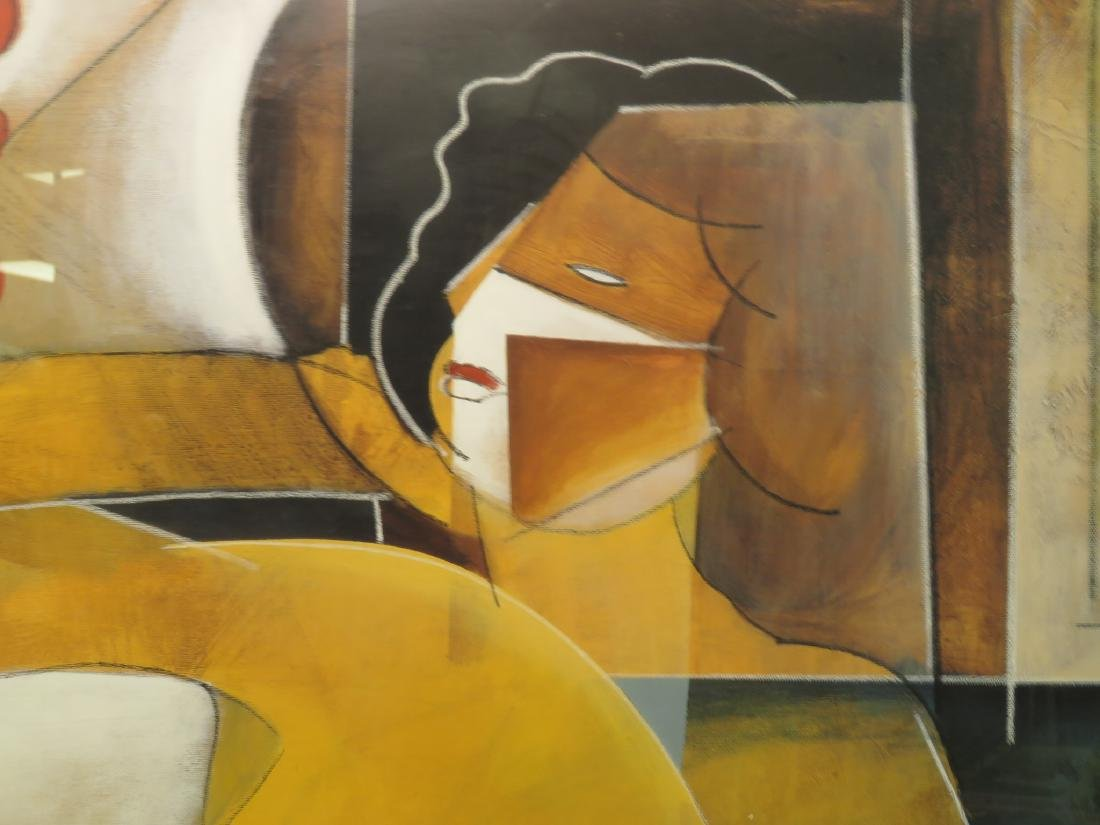 LARGE ABSTRACT PRINT OF LADY LOUNGING - 3