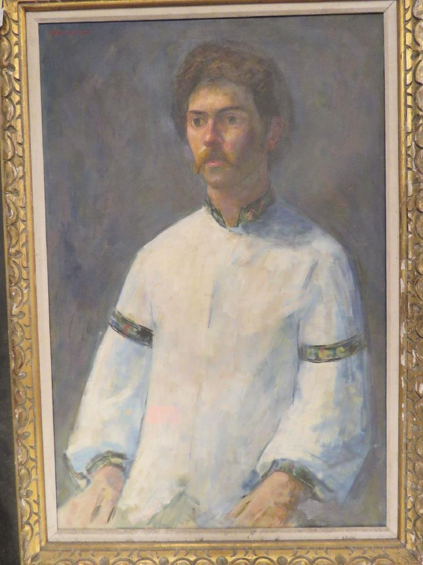 MID-CENTURY PORTRAIT PAINTING OF A MAN