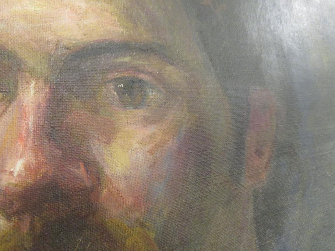 MID-CENTURY PORTRAIT PAINTING OF A MAN - 3