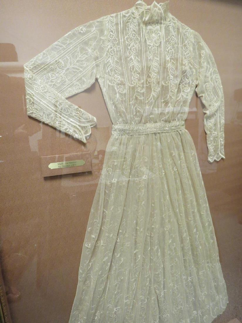 VINTAGE LACE DRESS / NIGHTGOWN MOUNTED IN FRAME