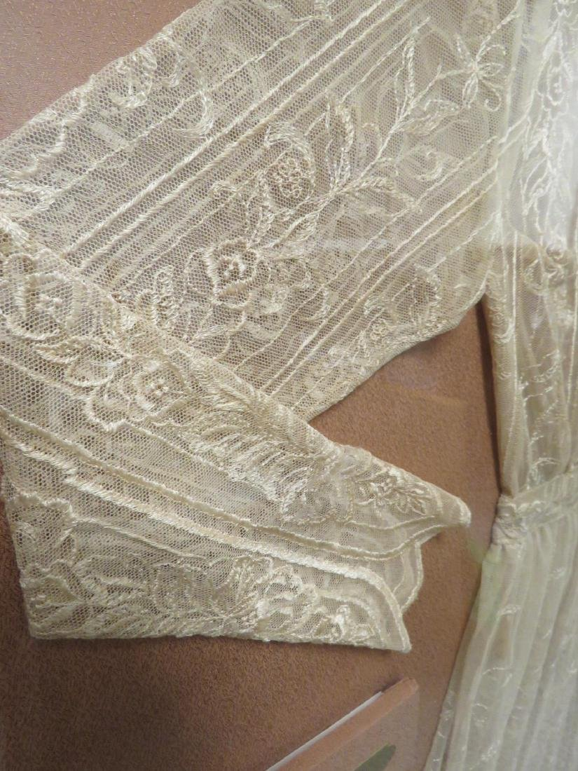 VINTAGE LACE DRESS / NIGHTGOWN MOUNTED IN FRAME - 2