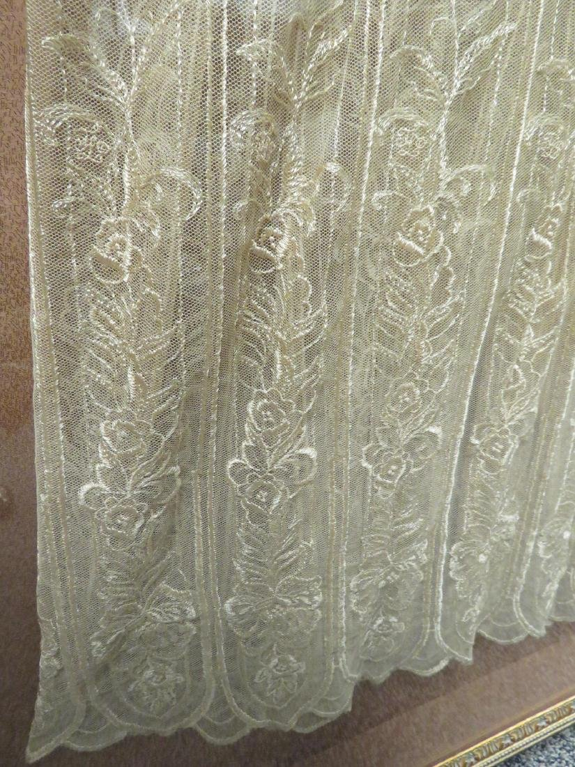 VINTAGE LACE DRESS / NIGHTGOWN MOUNTED IN FRAME - 3