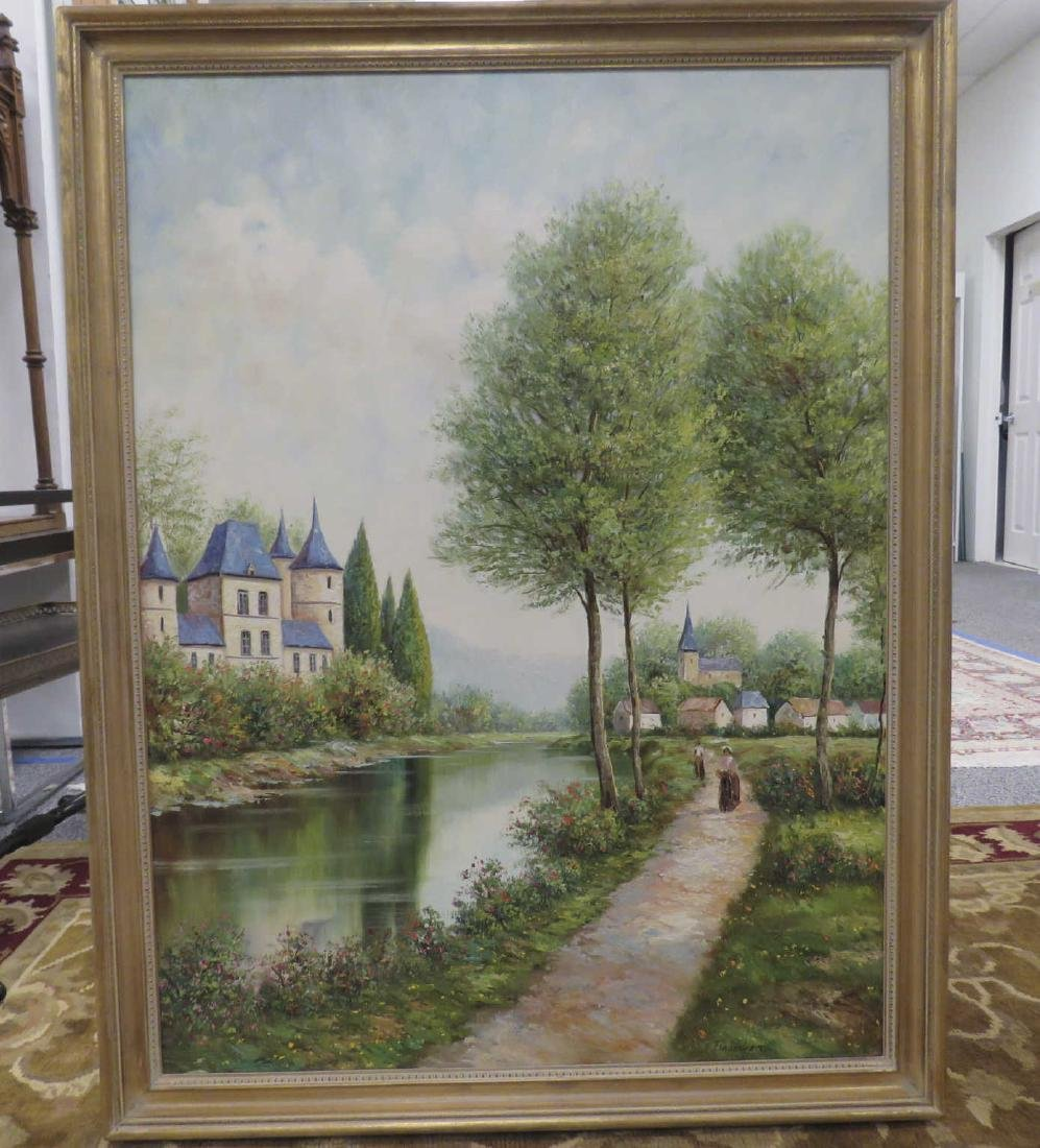 LANDSCAPE PAINTING BY RAUSCHER