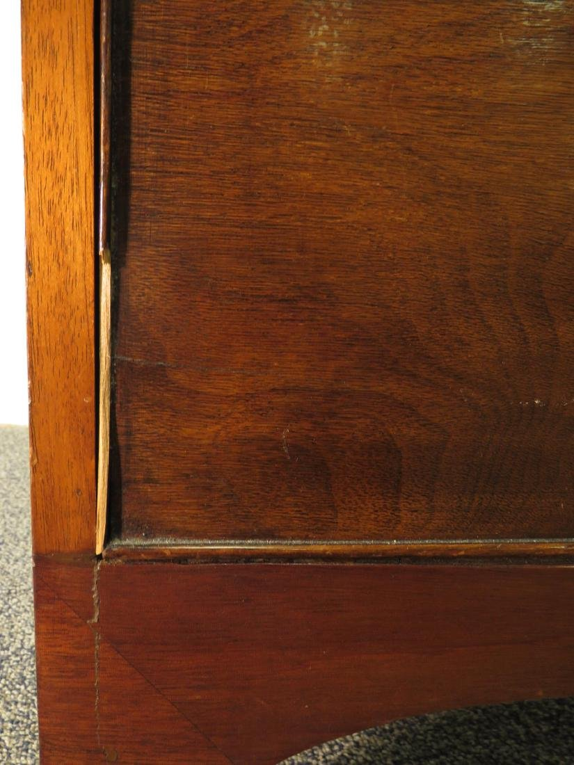 ANTIQUE MAHOGANY BOWFRONT CHEST OF DRAWERS - 3