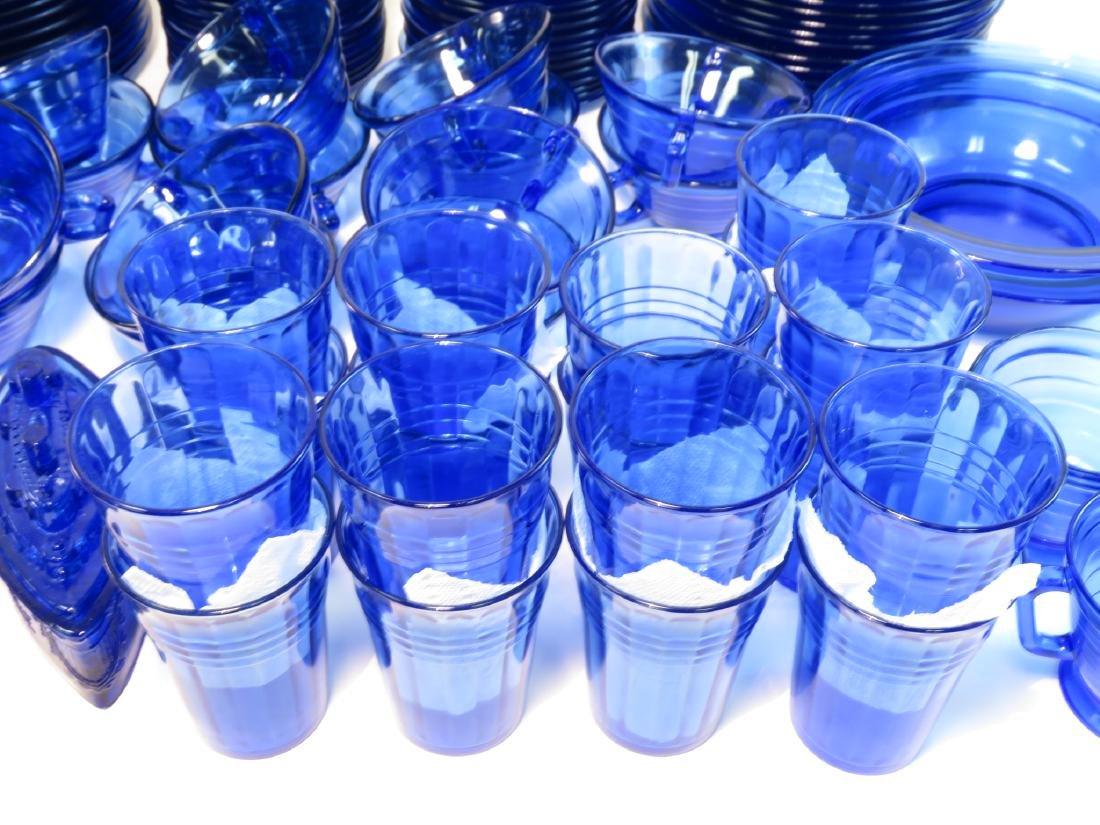 HUGE HAZEL-ATLAS COBALT DEPRESSION GLASS SET - 3