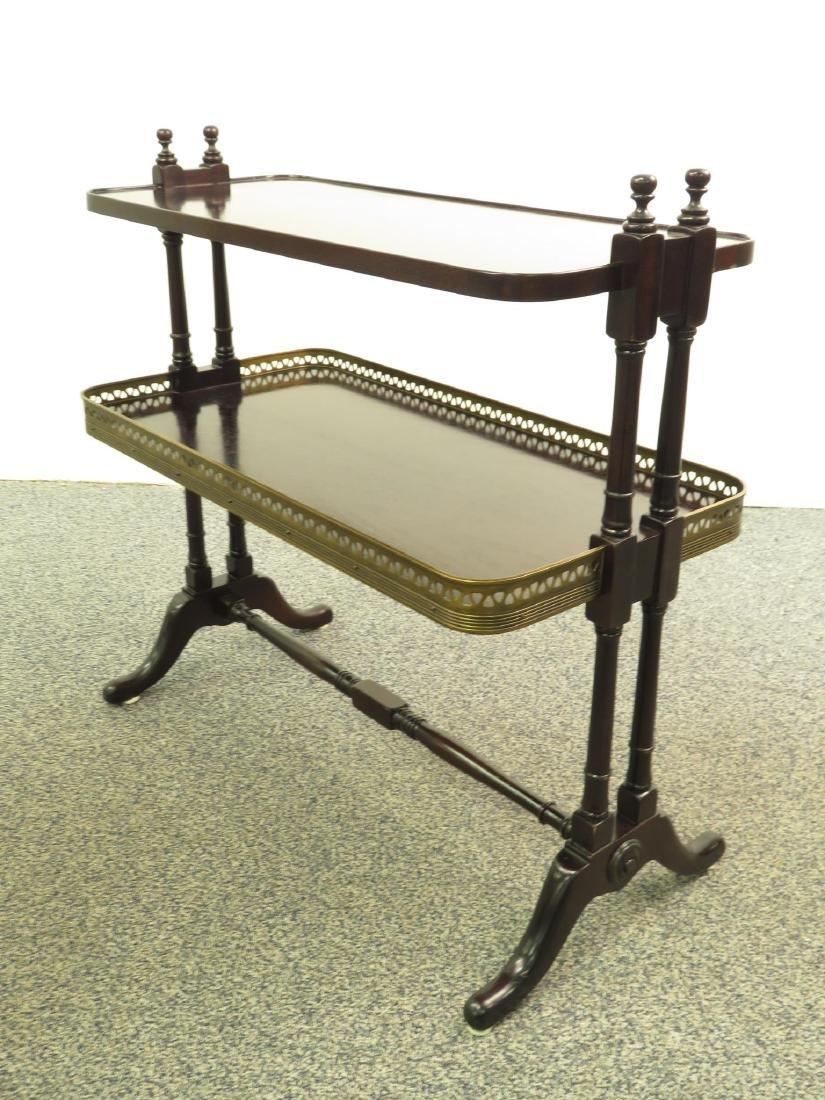 HENREDON REGENCY STYLE TWO TIER SIDE TABLE