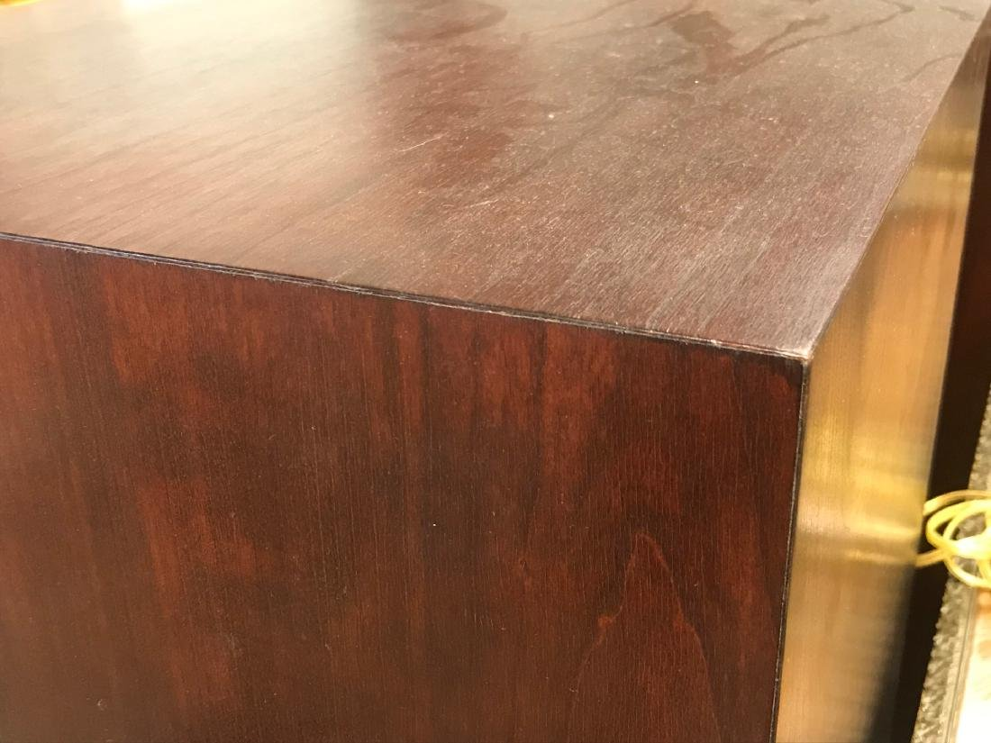 TWO MAHOGANY FINISHED PEDESTALS - 2