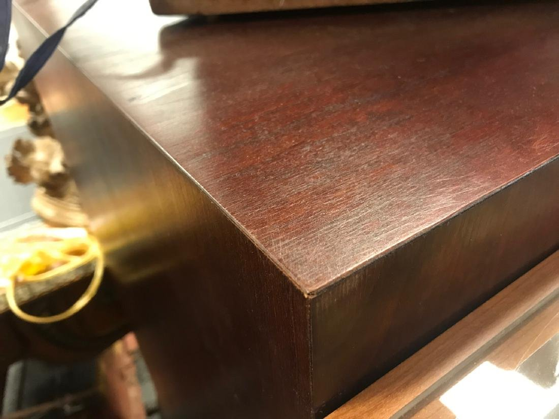 TWO MAHOGANY FINISHED PEDESTALS - 3