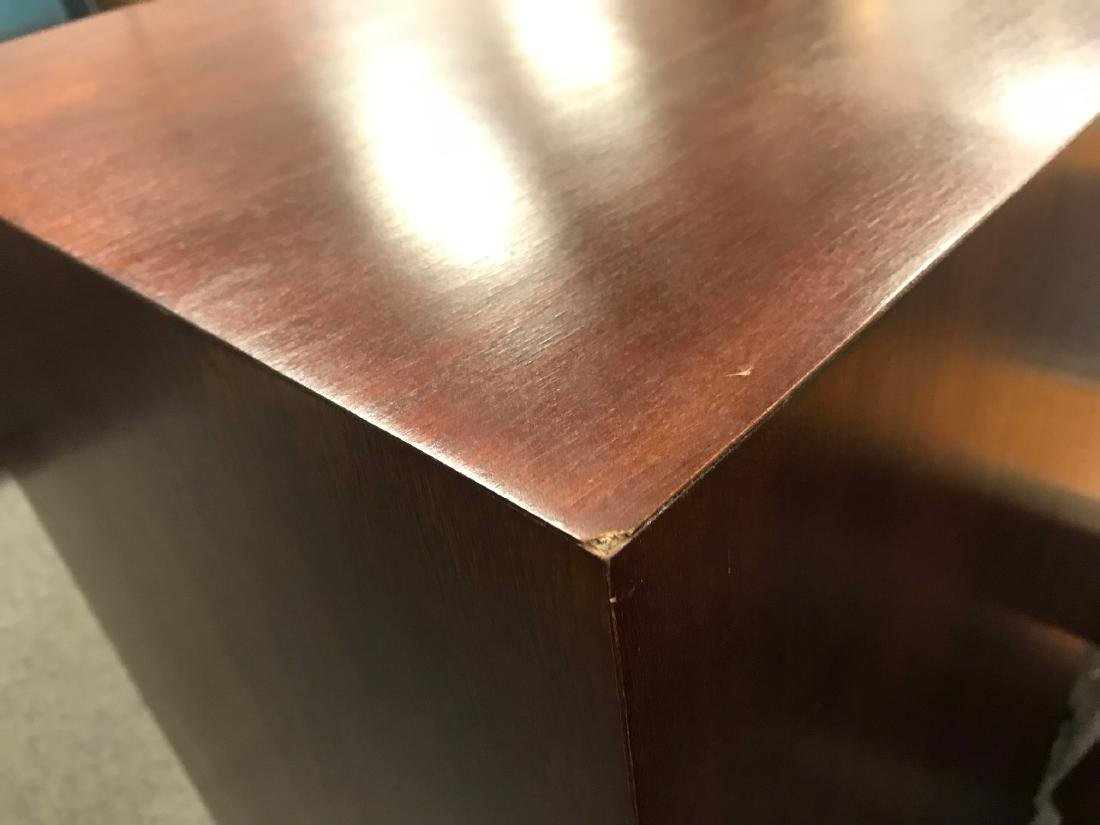 TWO MAHOGANY FINISHED PEDESTALS - 4