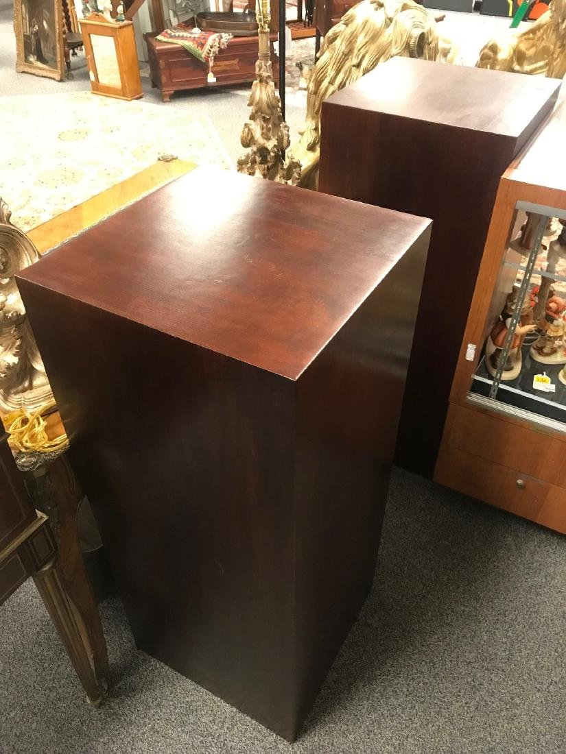 TWO MAHOGANY FINISHED PEDESTALS - 5