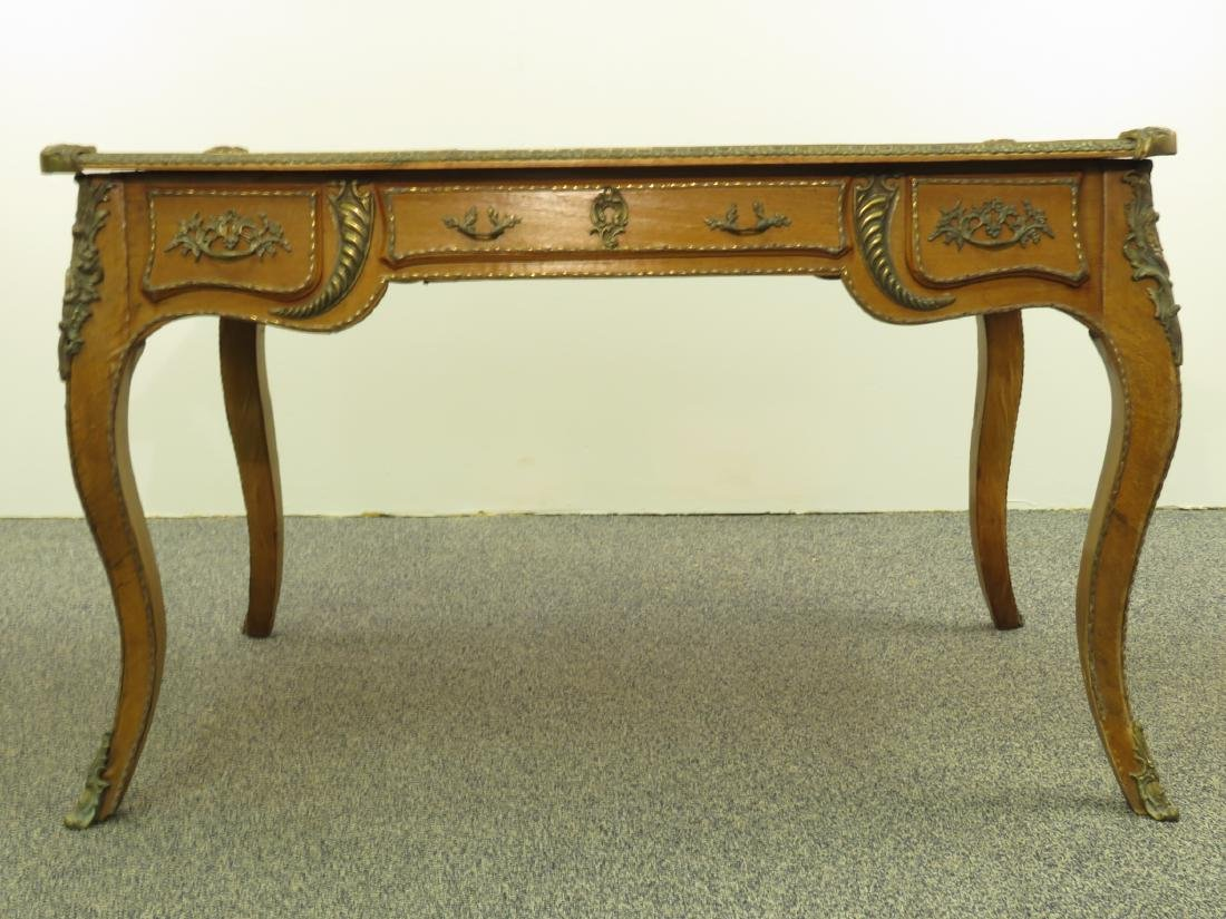 FRENCH LOUIS XV STYLE LEATHER TOP DESK - 2
